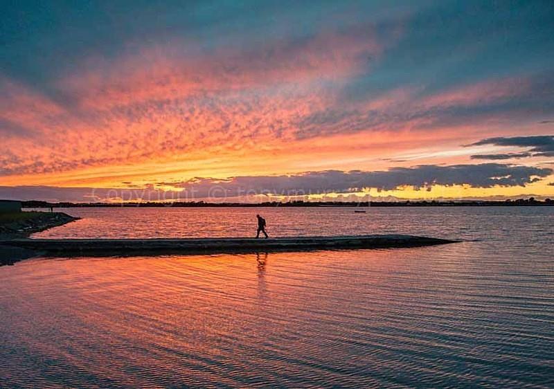 Fireball Sunset, Malahide Estuary - Malahide