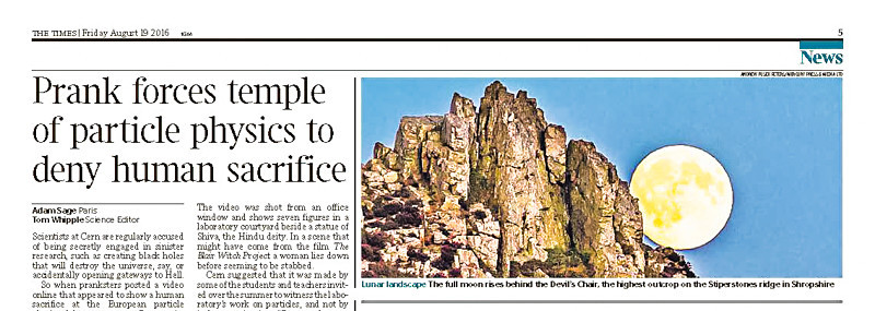 full moon rising from Devil's Chair Page 5 The Times - Media & Awards