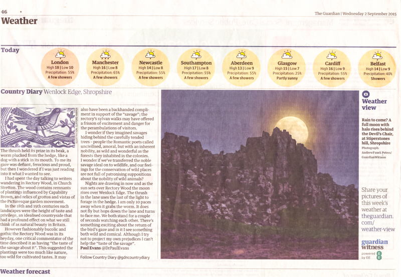 Stiperstones Full Moon, Guardian - Media & Awards