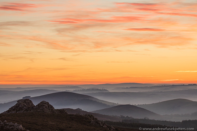 Dusk over Cranberry rock Stiperstones - Showcase