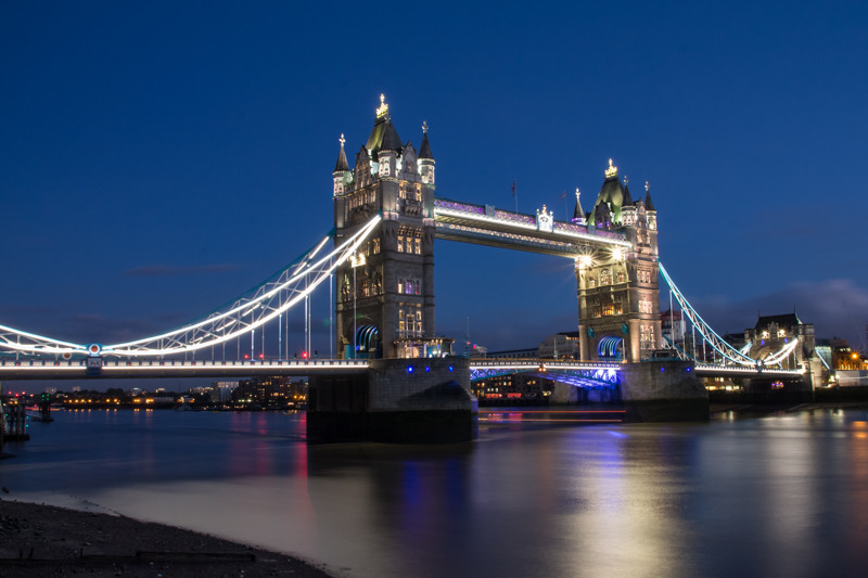 Tower Bridge and Thames Blue Hour - City