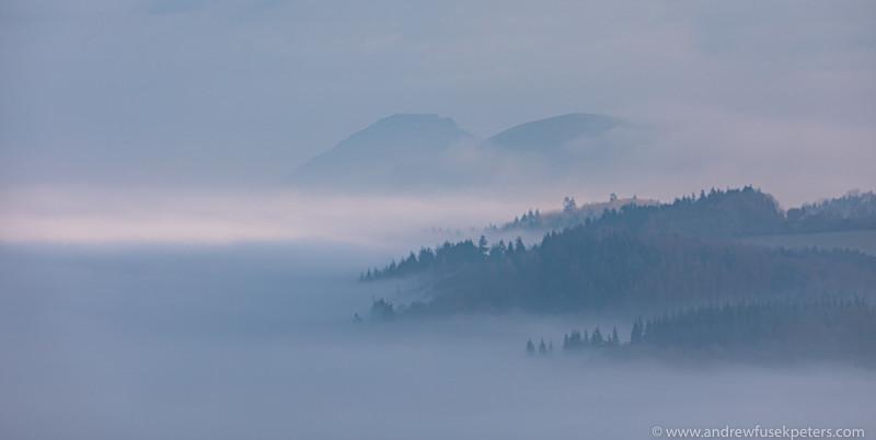 inverted mist in the Stretton valley - Showcase