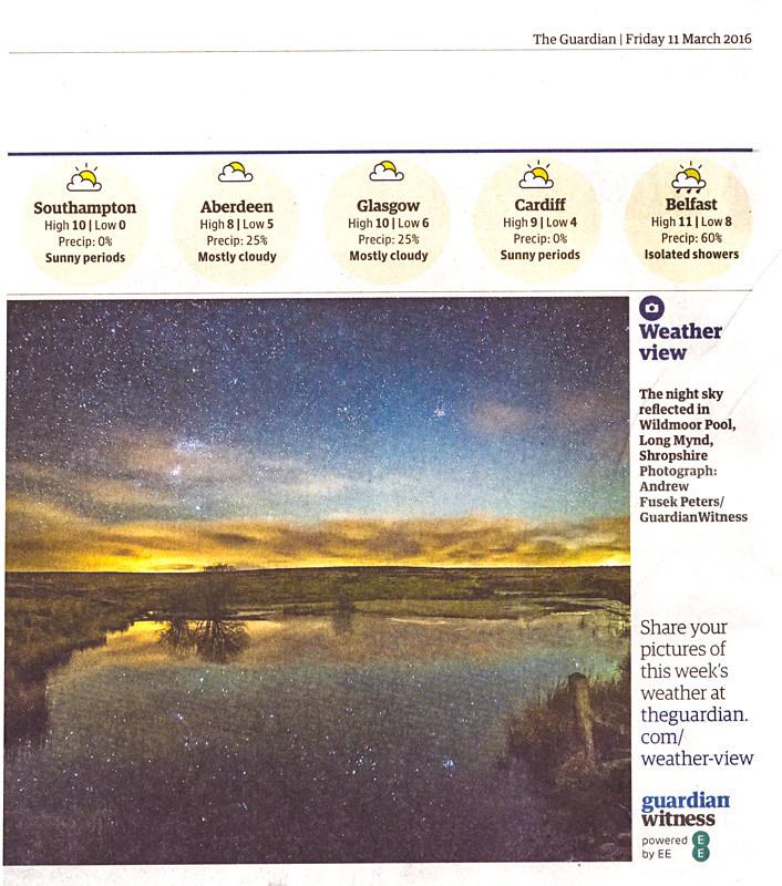 Wildmoor Pool in the Guardian - Media & Awards