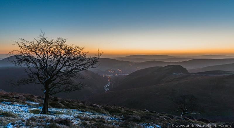 dawn on Cow Ridge, Long Mynd - Showcase