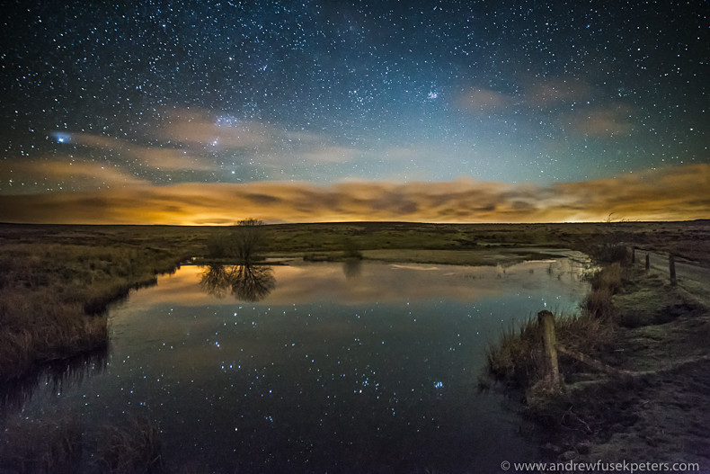 the stars reflected in Wildmoor pool - Showcase
