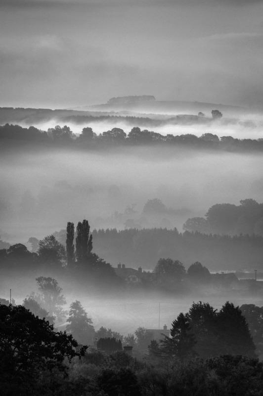 Lydbury North Fields Dawn Mist - Wilderland, Wildlife & Wonder from the Shropshire Borders