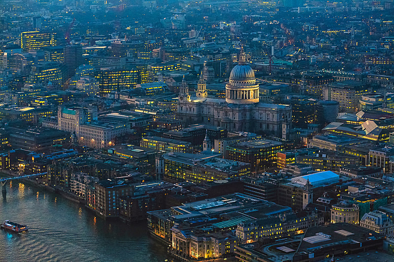 St Pauls from the Shard - City