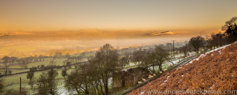 Dawn over stiperstones from Long Mynd - Wilderland, Wildlife & Wonder from the Shropshire Borders