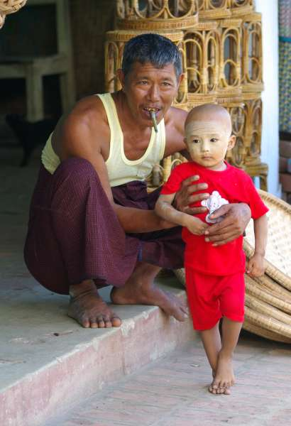 Father and son - Burma