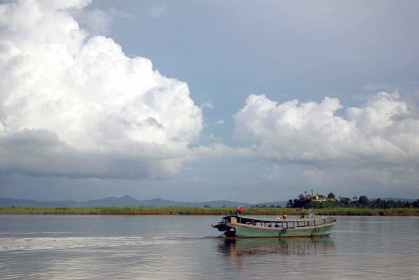 Local Irrawaddy ferry - Burma