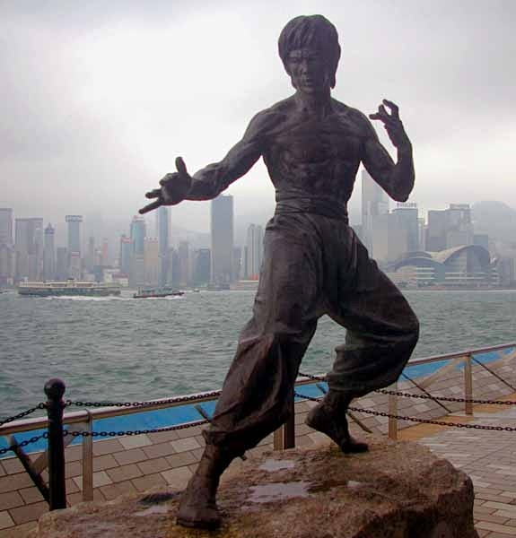 Bruce Lee sculpture, Avenue of the Stars, Kowloon, Hongkong - Hongkong and Macau