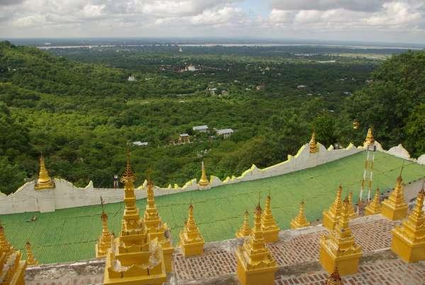 Pagoda overlooking Mandalay - Burma