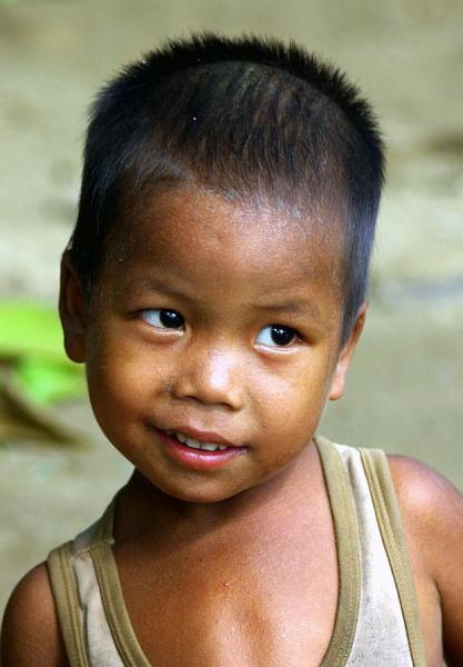 Village boy, Upper Irrawaddy River - Burma