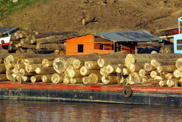 Teak Barge - Burma