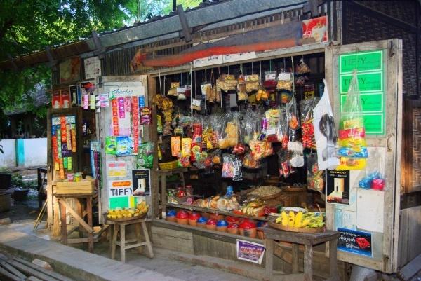 Village shop, Irrawaddy River - Burma