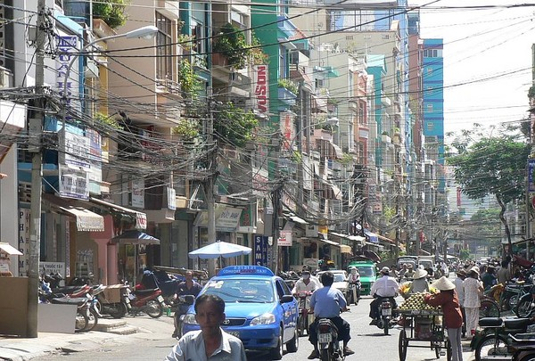 Backpacker area, Saigon - Cambodia and Vietnam