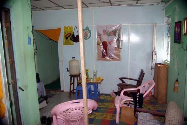 Tin's lounge room - Burma