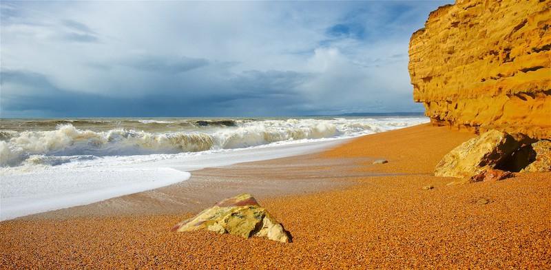 Storm Katie, Chesil Beach, Burton Bradstock,Dorset EDC241 - England