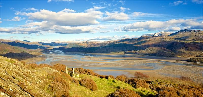 Cadair Idris and the Mawddach Estuary , Snowdonia EDC246 - Wales