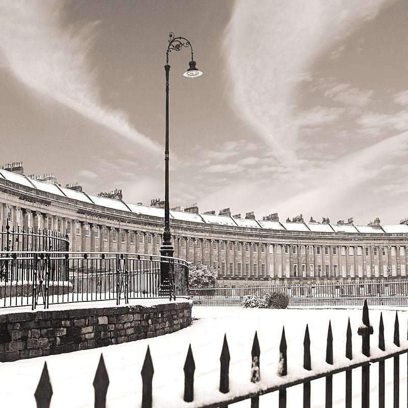 Royal Crescent,Bath - Sepia EDC132 - Bath