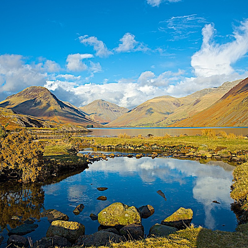 Great Gable and Scafell Pike, Wast Water EDC217 - Lake District