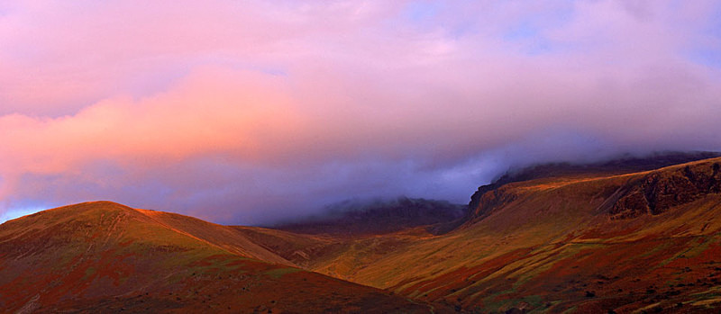 Last Light, Scafell Pike - not available as greeting card - Lake District
