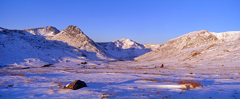 Glyder Fach, Tryfan and Y Garn,  - not available as greeting card - Wales