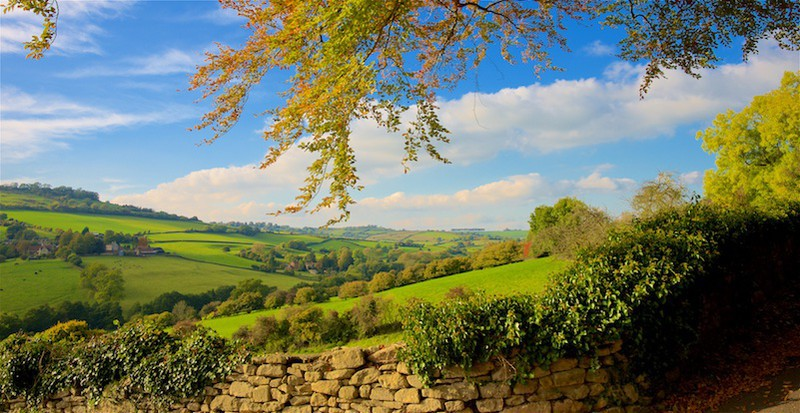 The Cotswolds from Swainswick,Bath EDC249 - England