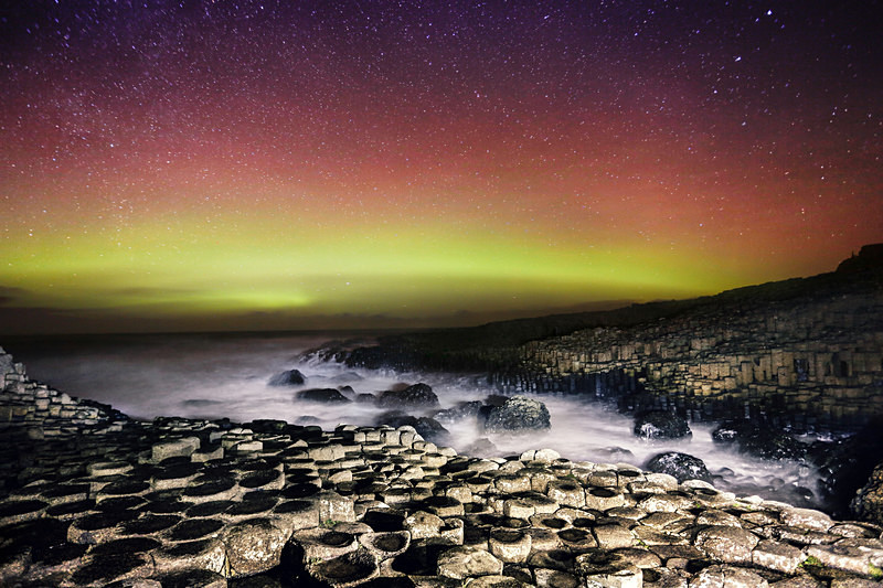 Aurora Borealis & The Causeway - Irish Landscapes