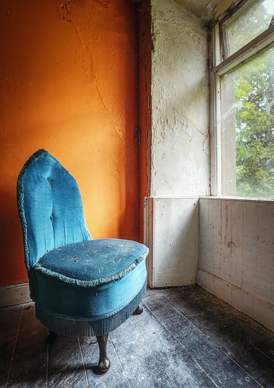 Orange Room & a Blue Chair - 'Abandoned Ireland'