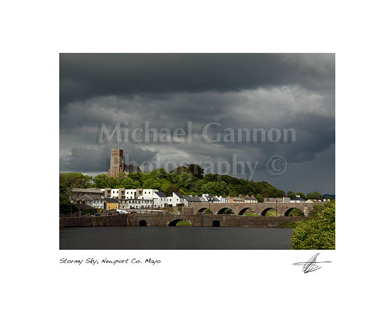 Stormy Sky Newport Co Mayo - Landscape Colour