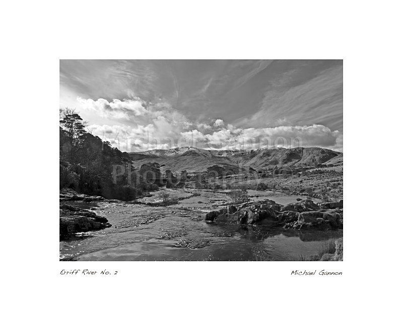 Erriff River No 2 - Landscape Black and White