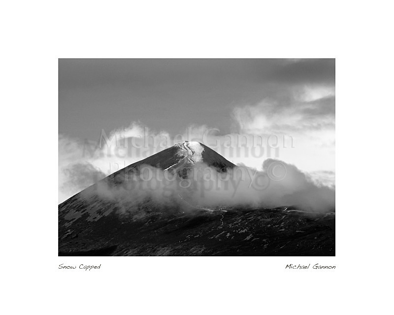 Snow Capped 1 - Landscape Black and White