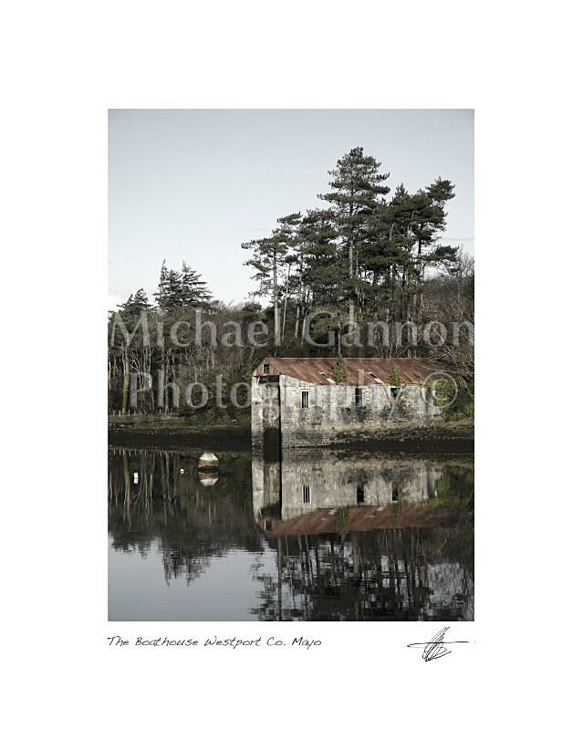 'The Boathouse' Westport Co Mayo - Landscape Colour