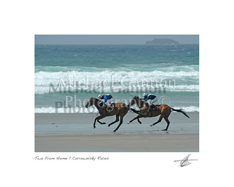 'Two From Home' Carrowniskey Races - Landscape Colour