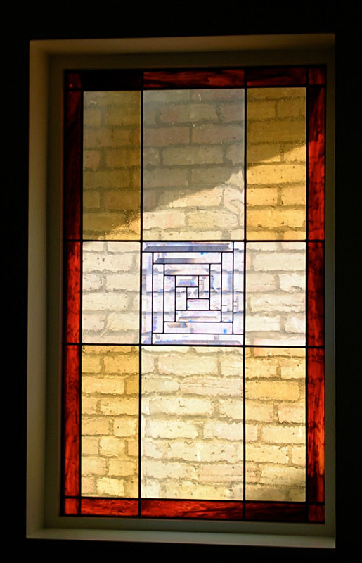 Landing window | Carole Gray | Stained glass commission