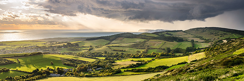 1834 Incoming Storm Brighstone - Compton and West Wight panoramics