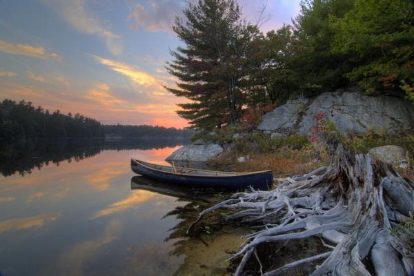 Conger Lake Sunset - NATURE'S WINDOW