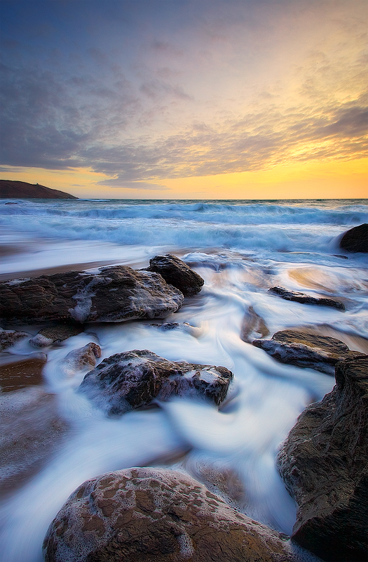 Silken Shoreline - Landscape (Vertical)