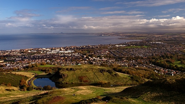 View from Arthur's Seat, photographed by Roger Butterfield.