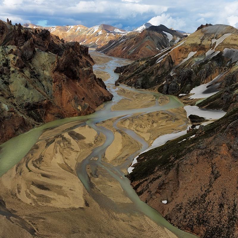 Landmannalaugar aerial study #4 - Iceland Highland Aerials