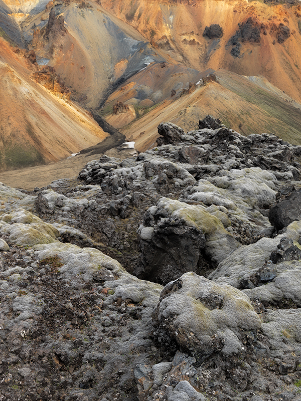 Lava, moss and rhyolite - Iceland landscapes