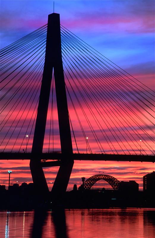 Anzac Bridge vertical - Sydney Icons