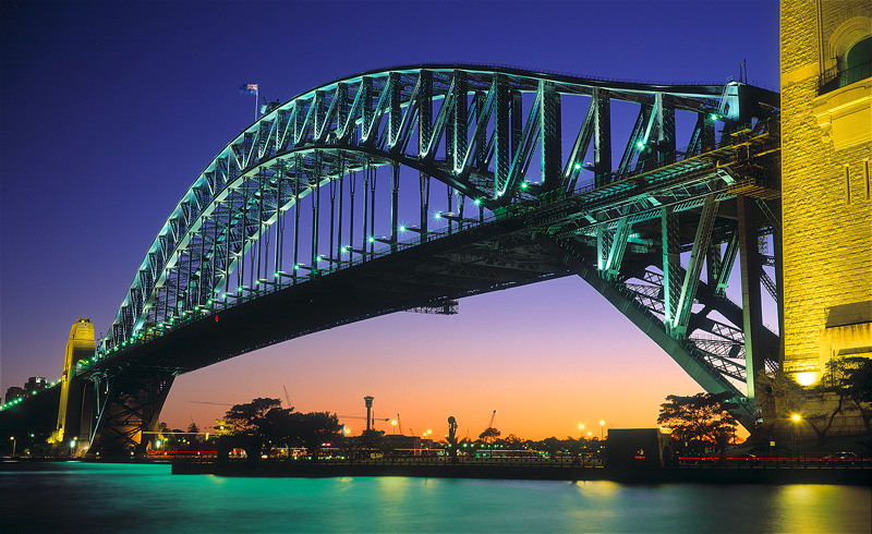 Bridge from Jeffrey St Wharf - Sydney Icons