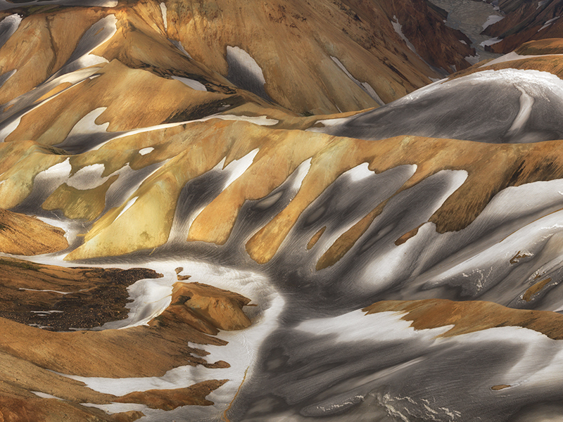 Landmannalaugar aerial study #2 - Iceland Highland Aerials