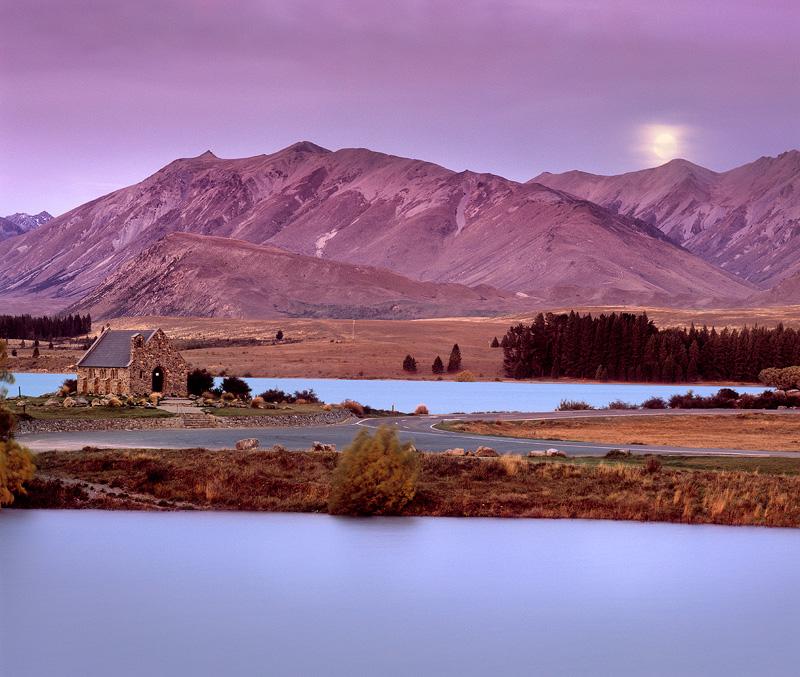 Lake Tekapo Moonrise - New Zealand