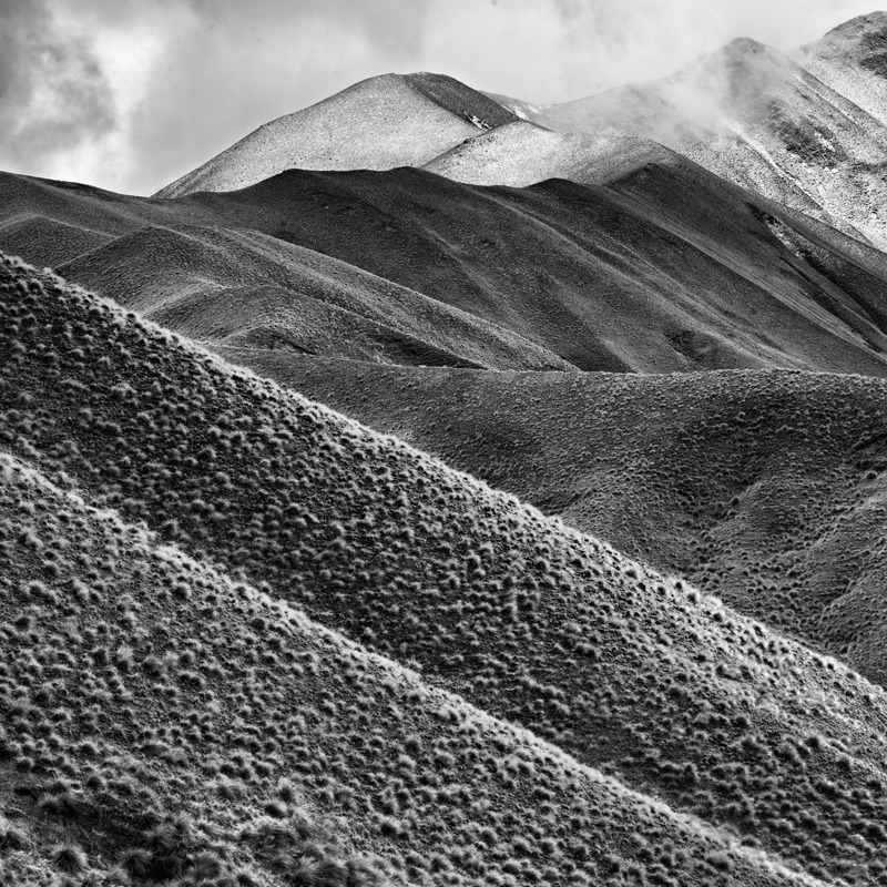 Lindis Pass #2 - Black and White