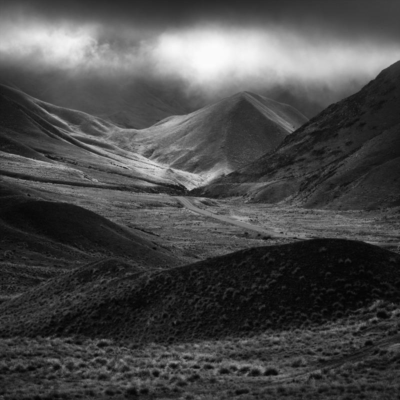 Lindis Pass - Black and White