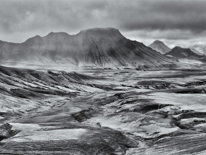 Reykjadalur Mist - Black and White