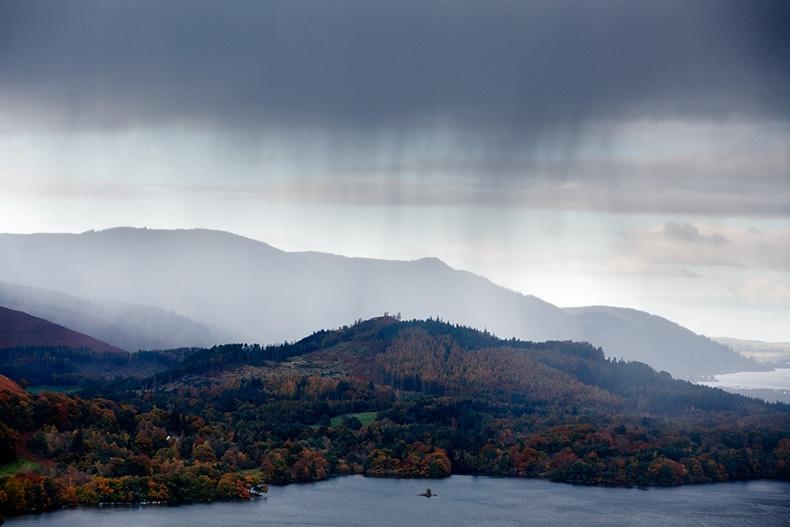 Hailstorm over Derwentwater 2 - Lake District